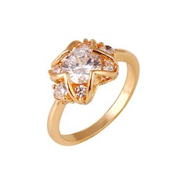 $enCountryForm.capitalKeyWord Canada - Star Shaped Rose Gold Wedding Rings Cubic Zirconia Wedding Rings for Women Exquisite Rings High Quality Factory Price