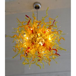 $enCountryForm.capitalKeyWord NZ - Longree New Year European Holiday Decor Golden Color Round unique Shape Cheap LED Glass Light Ceiling Chandelier with Bulbs