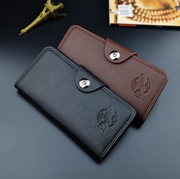 magnetic phone wallets NZ - wholesale brand bag gentleman style magnetic buckle multifunction wallet card business fashion purse custom embossed leather hand Wallet