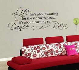 Free Shipping Life Quotes Wall Decals Inspirational Wall Sticker New  Arrival Wallpaper Home Decor