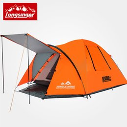 one living room 2019 - Wholesale- 3 - 4 double layer outdoor camping tent anti-uv cheap one living room