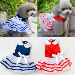 $enCountryForm.capitalKeyWord Canada - wholesale cheap Pet dog summer dress for wedding puppy chihuahua vestido para cachorro dresses clothing for dogs robe pour chien tutu dress
