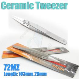ceramic wire for atomizer 2019 - Insulation Ceramic Tweezer heat antistatic Stainless Steel nipper for e cigarette cig Mods rda rba atomizer A1 Nichrome