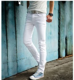Summer Style Men's Casual High Quality Slim Fit Trouser Long Men Jeans Fashion Classic Denim Skinny White Jeans Mens Pencil Pant