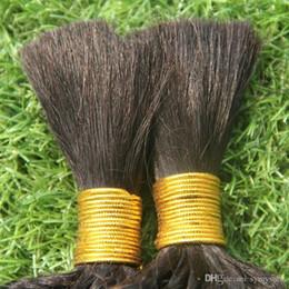 Jet Black Body Wave Hair Australia - Jet Black Color No Weft Human Bulk for Braiding Hair 100g Kinky Curly Hair Human Braiding Hair Bulk Body Wave Braiding
