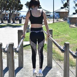 $enCountryForm.capitalKeyWord NZ - fashion Women's wear Tight fitting High waist Hip lifting Elastic force Perspiration Leopard Print Yoga pants Fitness pants