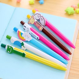 $enCountryForm.capitalKeyWord Australia - 0.5mm Ballpoint Pens Kawaii Cartoon Animals Rainbow Gel Ink Pen Retractable Ball Pen Kids Korean Stationery 1Pcs