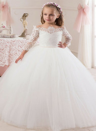 party kids special occasion dresses Canada - Wedding Party Events Kids Formal Wear Special Occasion Gown Flower Girl Dresses Girls Pageant Dresses First Communion Dresses