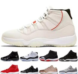 6331c07b815 11 11s XI Platinum Tint Men Basketball Shoes Cap and Gown Prom Night Gym  Red Bred Barons Concord 45 Cool Grey mens sports sneakers designer