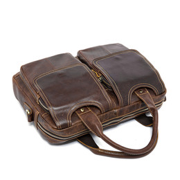 b056d5bcb9 Leather Laptop Messenger Bags Women Australia - Men s Briefcases Cowhide  leather women Handbags Laptop Bag 14