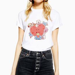 07dc635e Family Printed Tshirt Australia - wholesale 2019 BT21 Family Girl T Shirt  Cotton O-Neck