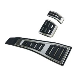$enCountryForm.capitalKeyWord NZ - Car Pedal For Audi Q7 A4 S4 RS4 B9 8W 2016 2017 2018 Modified Foot Rest RHD AT Plate Accelerator Refit Pad Decorate