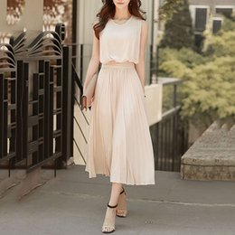 $enCountryForm.capitalKeyWord Australia - Young17 Women Elegant Dress Summer Chiffon Plain New Party Office Summer Vestido 2019 Fashion Long Dress Clothes Midi Dress T3190610