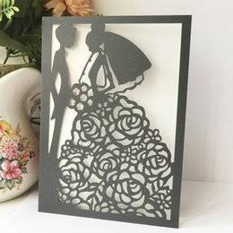 Wedding Groom Figures NZ - 25PCS Exquisite Wedding Invitation Card With Lover Bride And Groom Decoration Romantic Engagement Marriage Anniversal Invitation