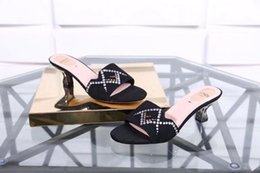 Woman Shoes Low Heels NZ - 205917 cashmere hot drilling upper, low heel shoes Casual Handmade Walking Tennis Sandals Slippers Mules Slides Thongs