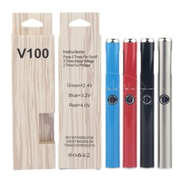 Micro Oil NZ - V100 Micro USB Vape Pen Battery Charger Kit 650 mAh Preheat VV Adjust Voltage with Magnetic Ring for 510 Empty Oil Smart Carts