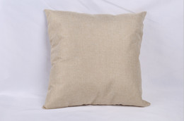 China 40*40cm Blank linen pillow cover for heat transfer printing solid color sofa throw pillowcase blank sublimation pillow cases covers suppliers