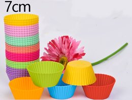cupcake makers Canada - Beautiful food grade Silicone Muffin Cake Cupcake Cup Cake Mould Case Bakeware Maker Mold Tray Baking A406