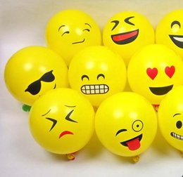 smiling faces decorations UK - 100pcs Lot Emoji Smile Balloons Party Wedding Decorative Balls for Toy Favor Gift Cartoon Face Air Balloon Christmas Decoration Decor