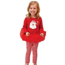 $enCountryForm.capitalKeyWord Australia - Baby Girls Christmas 2 pcs sets Clothing Sets Tutu Dress + Pants Casual Clothes Skirts Suit 2-6 Years Children