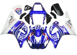 $enCountryForm.capitalKeyWord Australia - New ABS Compression Molding motorcycle plastic Fairings Kits Fit For YAMAHA YZF-R1-1000 1998-1999 98 99 bodywork Set Custom white blue cool