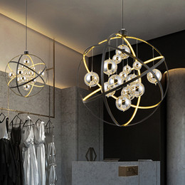 modern beds Australia - LED Modern Pendant Lamps Glass Round Ball Pendant Lights Fixture Mall Restaurant Kitchen Bed Living Room Dining Room Home Indoor Lighting