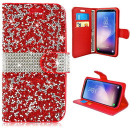 $enCountryForm.capitalKeyWord NZ - For S10 Plus E Fashion Luxury Flip Card Bling Crystal Rhinestone Wallet Leather Protective Phone Case Cover