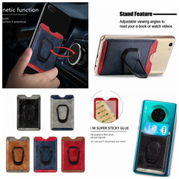 StickerS lg online shopping - Car Holder Magnet Suction Universal Back Phone Card Slot M Sticker Leather On Wallet ID Credit For iPhone Pro XR X Note10 S10e Case