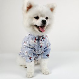 Blue Shirt For Wedding Australia - Pets Cotton Clothes Puppy Printing T-Shirt For Dogs Cats Clothes Small Middle Large Size Pets Suplies Wholesale Dropshipping