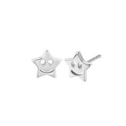fb4a65c8a Wholesale Children Stud Earrings UK - CHENGXUN Silver Tiny Smile Star Women  Earrings Lady Stud Earrings