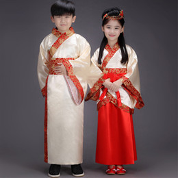 $enCountryForm.capitalKeyWord Australia - Hanfu Traditional Chinese Clothing For Girls Chinese Suit Kids Tang Dynasty Costume Boys Opera Stage Outfits Clothes DNV10934