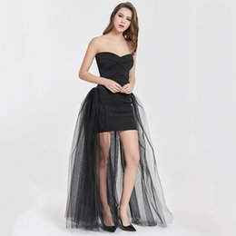 $enCountryForm.capitalKeyWord Australia - 4layers Black Overlay Skirt Fashion Long Tutu Tulle Skirt Bride Overskirt Chic Floor Length Saia Longa Detachable Wedding Skirts J190619