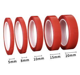 $enCountryForm.capitalKeyWord Australia - Red Double Sided Adhesive Tape High Strength Acrylic Gel Transparent No Traces Sticker For Car Auto Interior Fixed