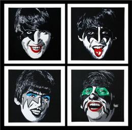 $enCountryForm.capitalKeyWord Australia - Mr Brainwash High Quality Handpainted & HD Print Pop Art Oil Painting The Beatles Kiss Tribute On Canvas Wall Art Home Deco g54