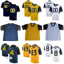 Wholesale made football resale online - West Virginia Mountaineers Kennedy McKoy Jersey College Rasul Douglas Marcus Simms Evan Staley Football Make Custom Personalized