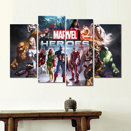 marvel canvas prints NZ - marvel heroes game 4 sets HD canvas print for home decoration art painting
