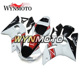 Motorcycle Fairings For Yamaha Australia - Pearl White Red Motorcycle Fairings For Yamaha YZF 600 R6 1998 1999 2000 2001 2002 ABS Plastic Injection motorbike Kits cowlings covers