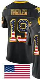 $enCountryForm.capitalKeyWord Australia - Man Minnesota 19 Jersey 14 Men Shirts Adult Embroidery and 100% stitched USA Flag Fashion Black Color Limited American Football jerseys