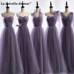 $enCountryForm.capitalKeyWord NZ - Wedding Dress 2019 New Tulle5 Purple Bridesmaid Style Dresses Cheap Wedding Brautjungfernkleid C19041901