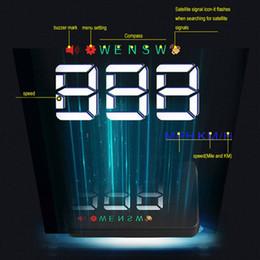 Car HUD GPS Speedometer Speedo Head Up Display Digital Over Speed Alert on Sale