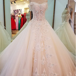 Corset China Custom made online shopping - Off The Shoulder Tassel Beaded Summer Wedding Dresses Ball Gown Sweetheart Corset Back Wedding Gowns Made In China