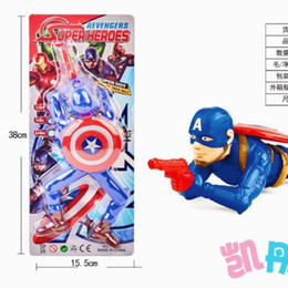 Wholesale Jedi Electric Music Crawling Soldier Toy Children Captain America Batman Spider Man Toys Voice Flash Plaything Action Figure cd K1