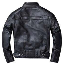 $enCountryForm.capitalKeyWord Australia - Vintage Genuine Leather Jacket Men Black Pilot Flight Motorcycle Biker Real Cow Jackets Coats Plus Size 4XL jaqueta
