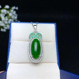 Большой Клара Делюкс мозаика естественная Хэтянь нефрит стерлингового серебра 925 шпинат-зеленый цвет прекрасно нефрита кулон ювелирные изделия для женщин подарок