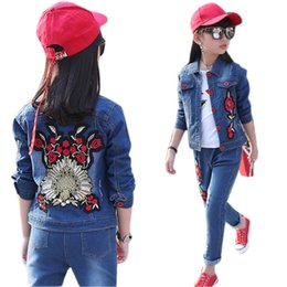 Kids jeans for boys girls online shopping - Children Clothing Set for Boys Girls Outfits Denim Jacket Jeans Spring Autumn Costume Teenage Kids Suit for YearsMX190916