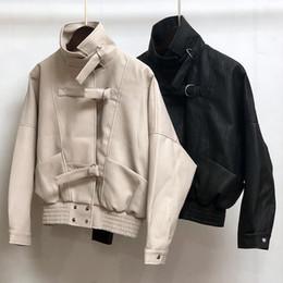 $enCountryForm.capitalKeyWord NZ - 2018 New Fashion Women Spring Autumn Soft Faux Leather Jackets Lady Motorcyle Button Biker Black Coats Outerwear Hot Sale