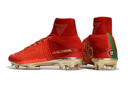 $enCountryForm.capitalKeyWord Australia - Original Red Gold Children Soccer Cleats Mercurial Superfly Cr7 Kids Soccer Shoes High Ankle Cristiano Ronaldo Womens Football Boots