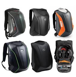 OGIO motorcycle riding backpack shoulder knight locomotive backpack male KTM hard shell bag helmet bag carbon fiber waterproof on Sale