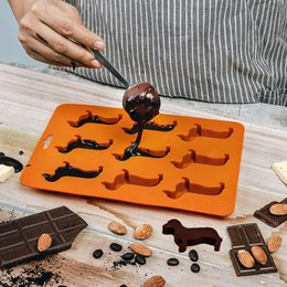 frozen chocolate moulds Australia - Cute Dog Shaped Mold Silicone Chocolate Mold Maker Ice Cube Tray Freeze Mould Bar Pudding Ice Biscuit Cake Mousse Jelly