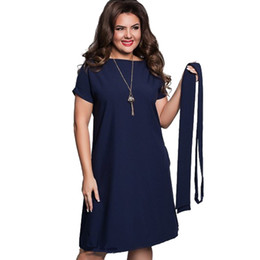 f1ee09b461b 6xl Sexy Party Plus Size Maxi Straight Solid Dresses with belt Elegant  Ladies Women Dress Loose Large Sizes Slim Office Vestidos